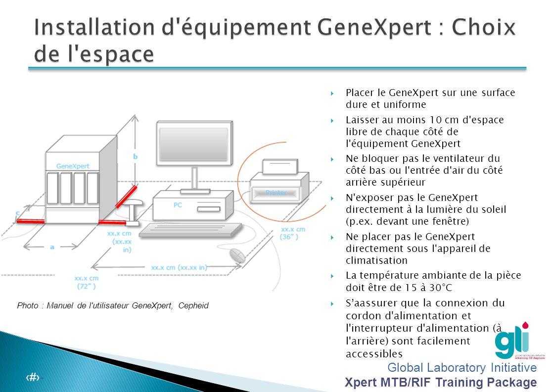 Installation d équipement GeneXpert : Choix de l espace