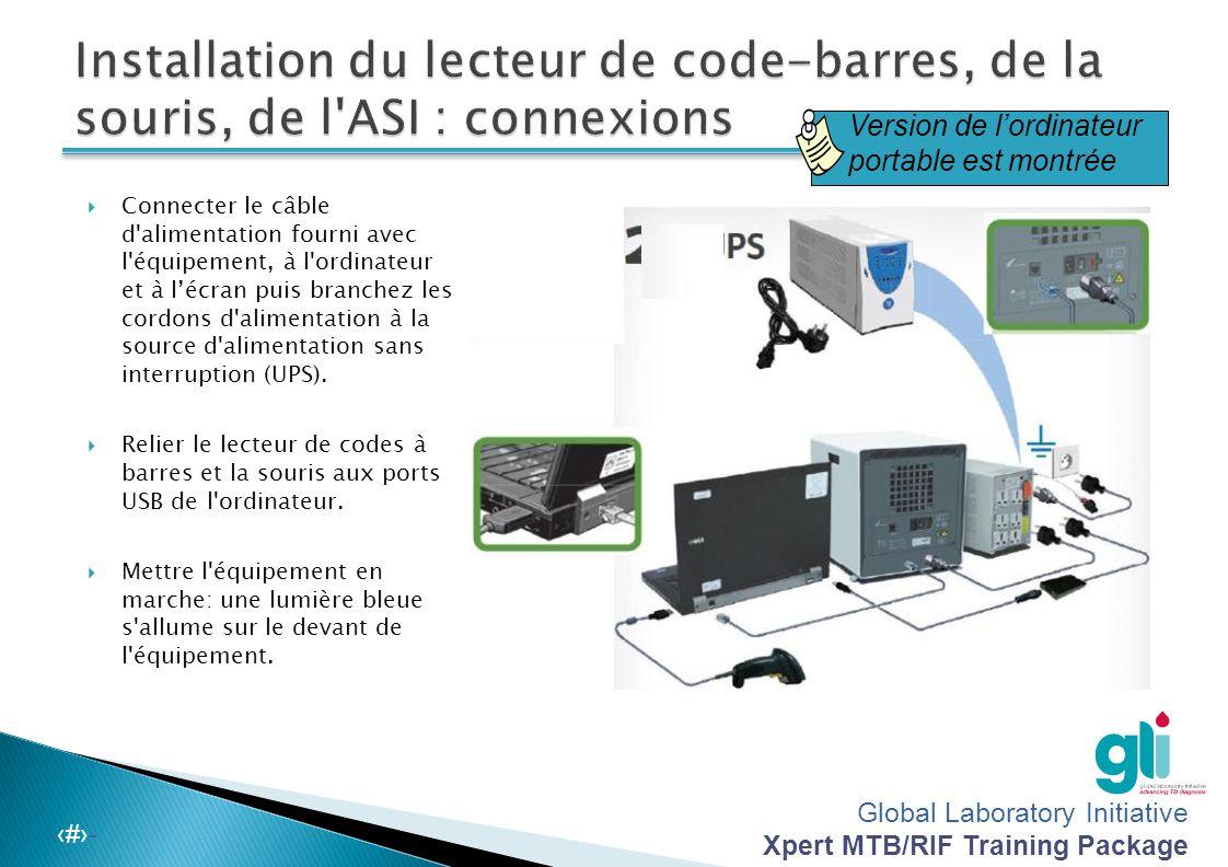 Installation du lecteur de code-barres, de la souris, de l ASI : connexions
