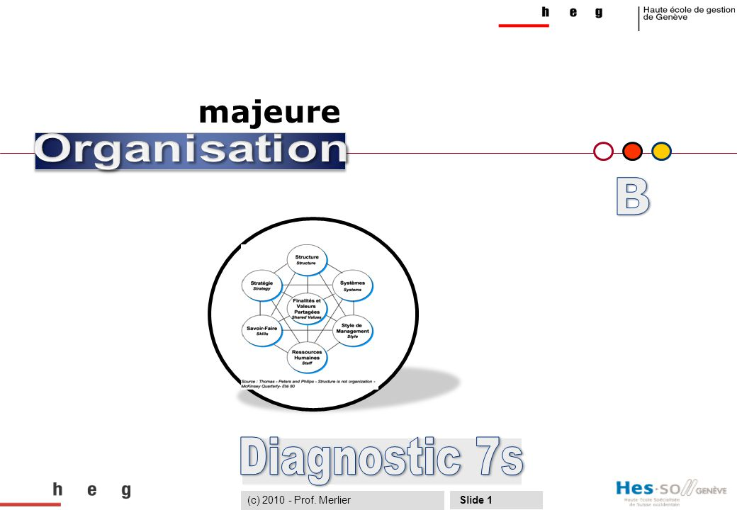 B Diagnostic 7s majeure (c) 2010 - Prof. Merlier Organisation