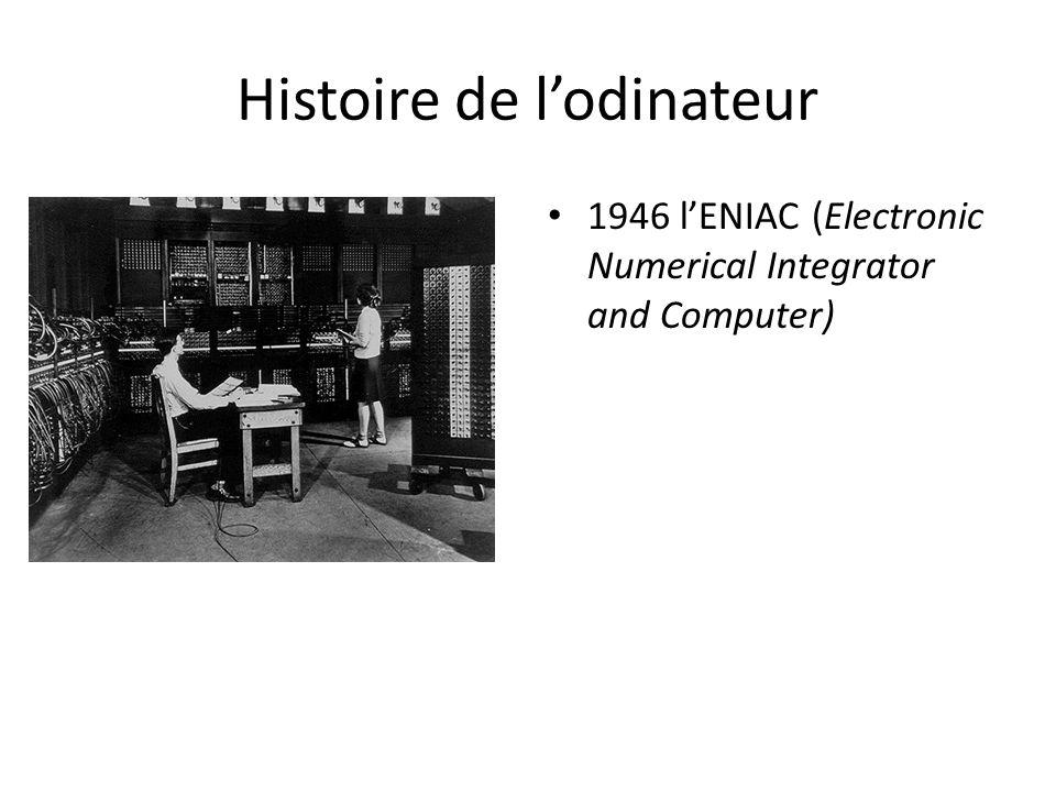 Histoire de l'odinateur