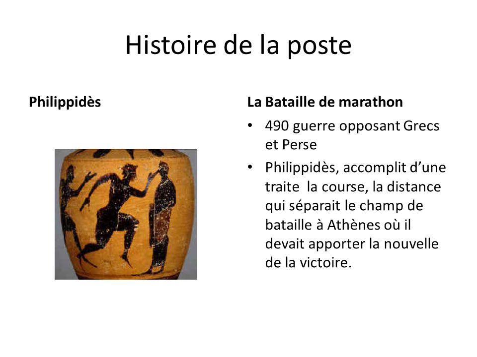 Histoire de la poste Philippidès La Bataille de marathon