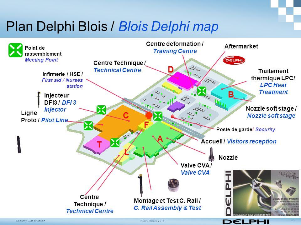 Plan Delphi Blois / Blois Delphi map