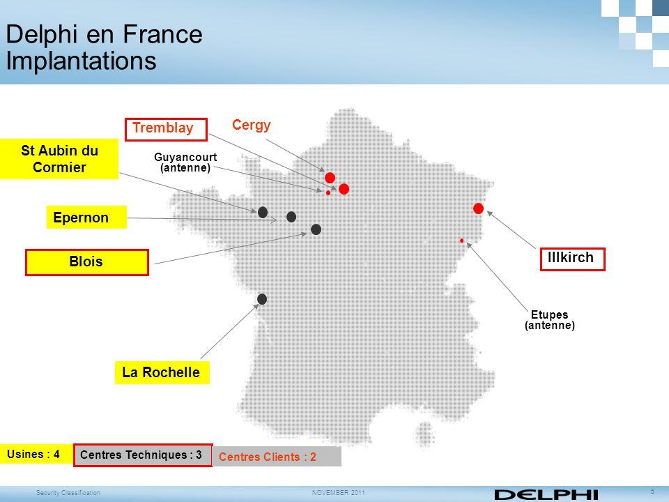Delphi en France Implantations