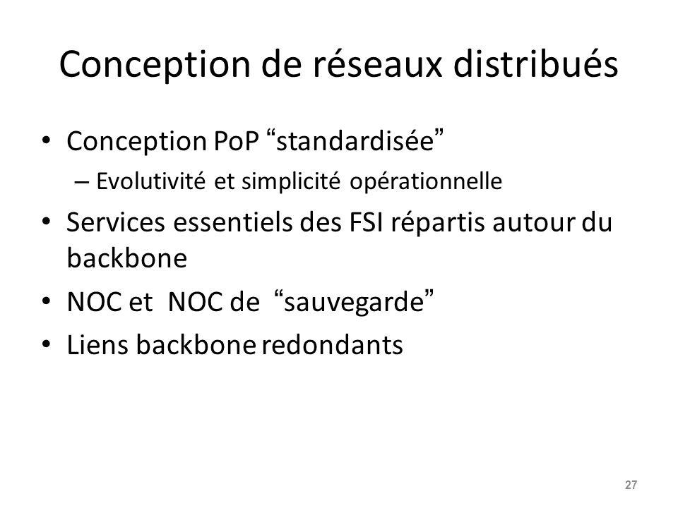 Conception de réseaux distribués