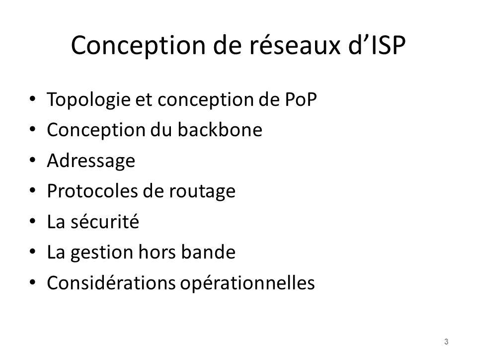 Conception de réseaux d'ISP