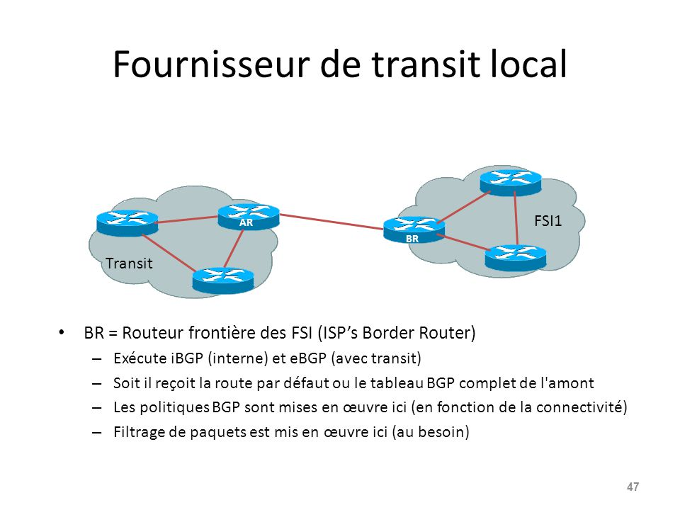 Fournisseur de transit local