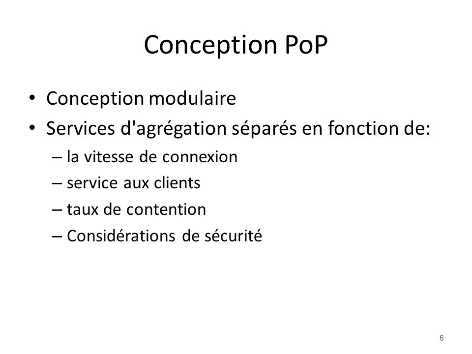 Conception PoP Conception modulaire