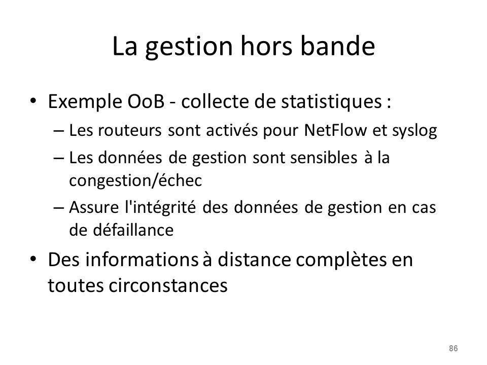 La gestion hors bande Exemple OoB - collecte de statistiques :
