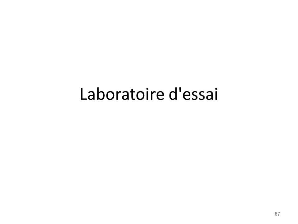 Laboratoire d essai
