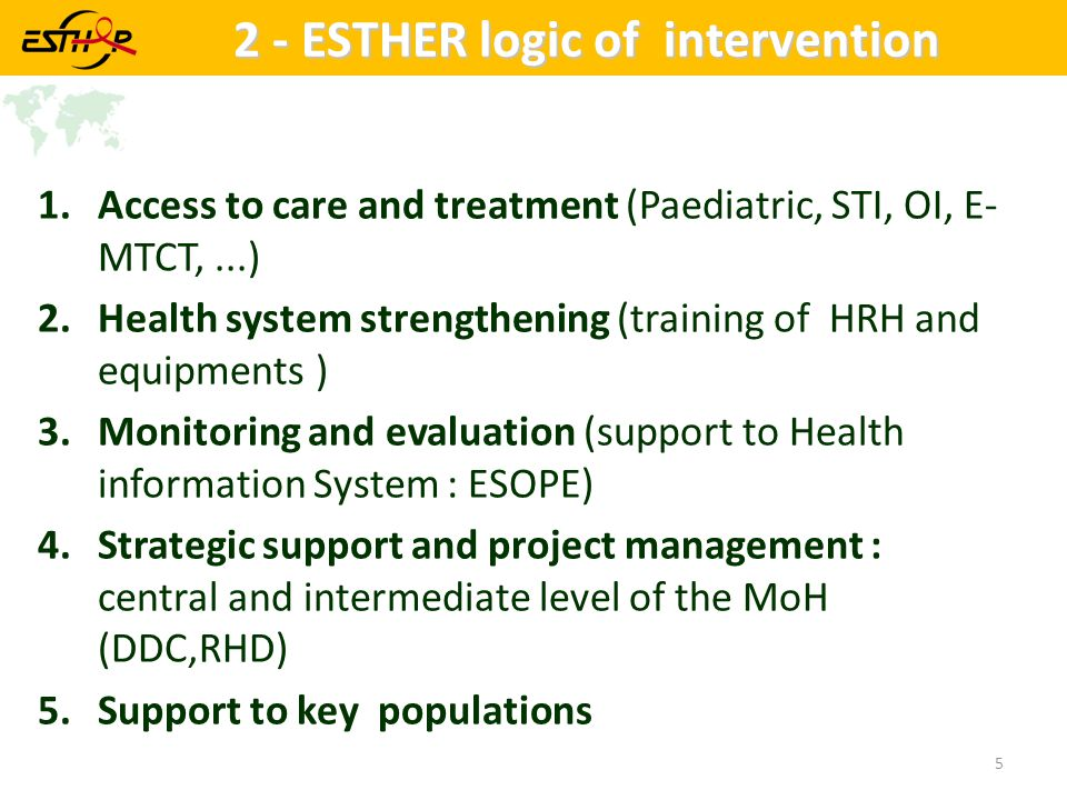 2 - ESTHER logic of intervention