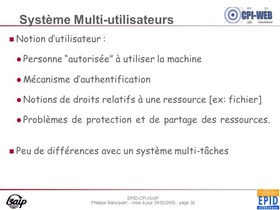 Système Multi-utilisateurs