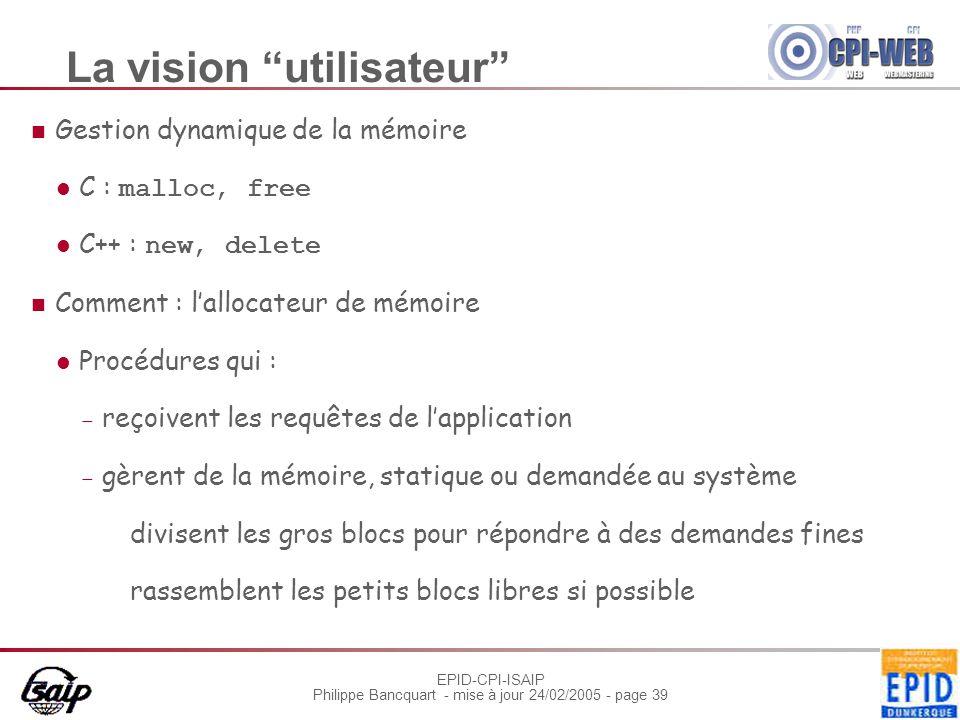 La vision utilisateur