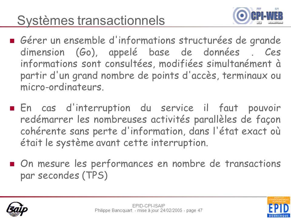 Systèmes transactionnels