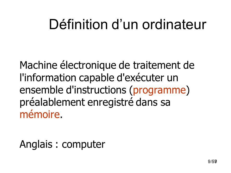 Définition d'un ordinateur