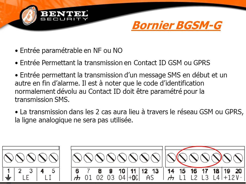 Bornier BGSM-G Entrée paramétrable en NF ou NO