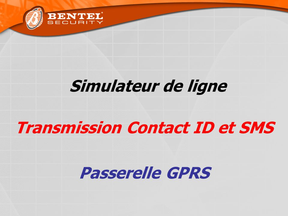 Transmission Contact ID et SMS Passerelle GPRS