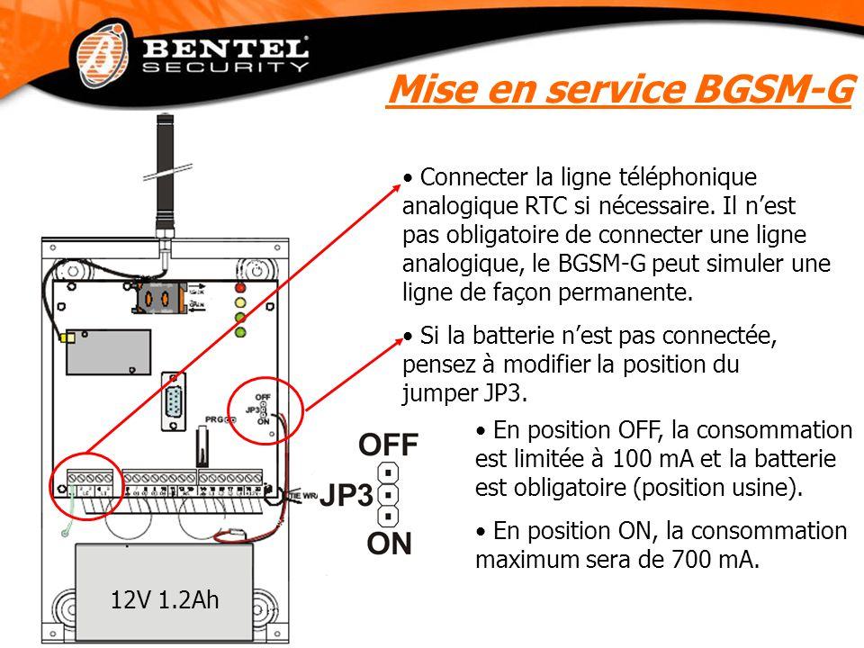 Mise en service BGSM-G