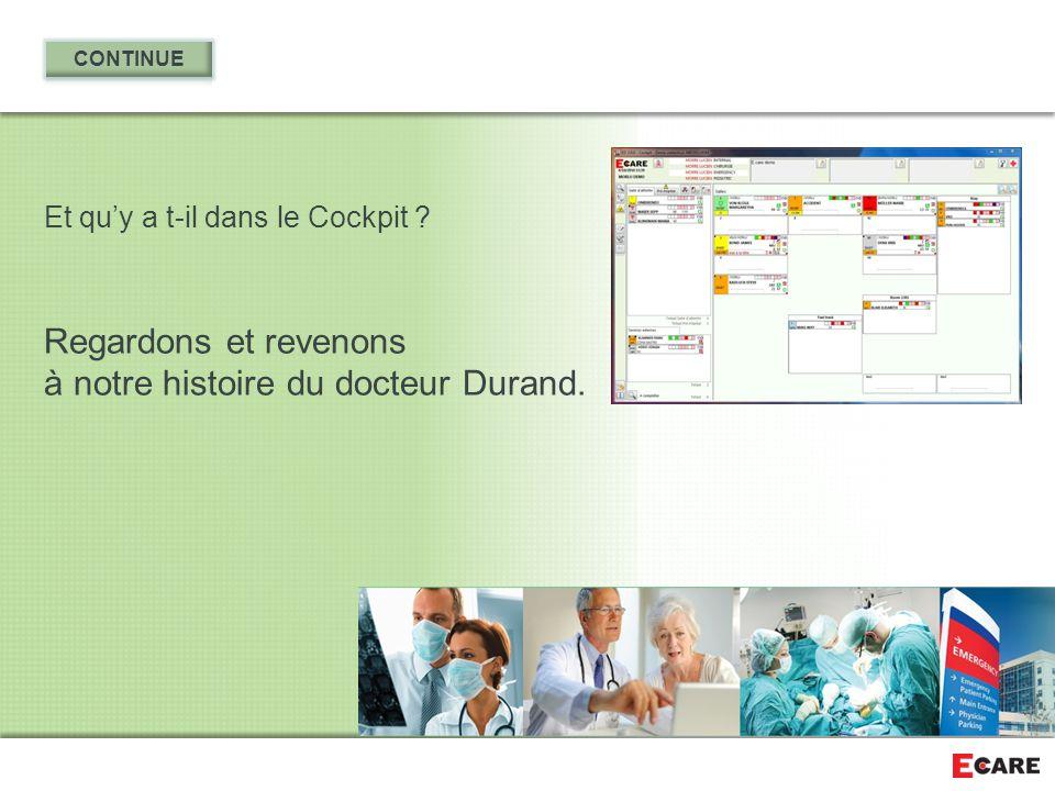 Regardons et revenons à notre histoire du docteur Durand.