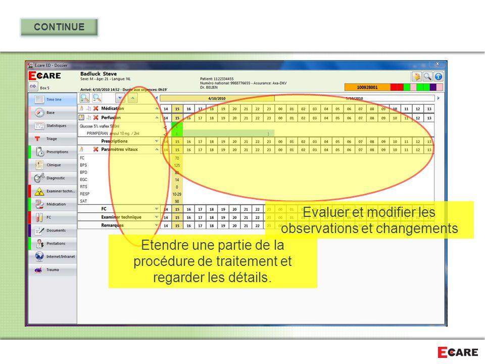 Evaluer et modifier les observations et changements
