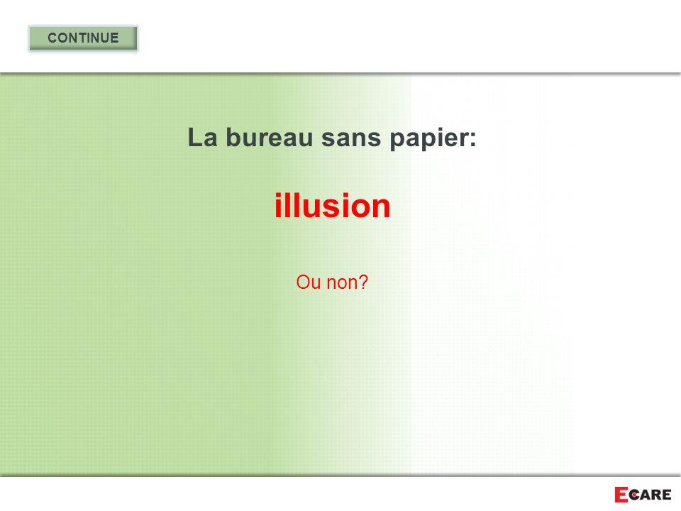 CONTINUE La bureau sans papier: illusion Ou non