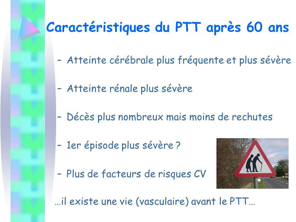 Caractéristiques du PTT après 60 ans