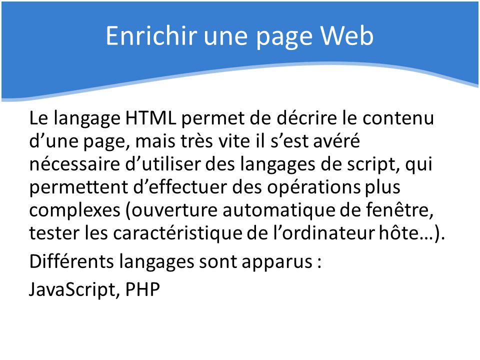 Enrichir une page Web