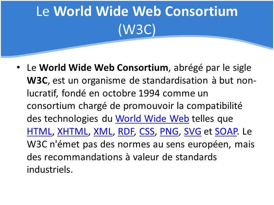 Le World Wide Web Consortium (W3C)