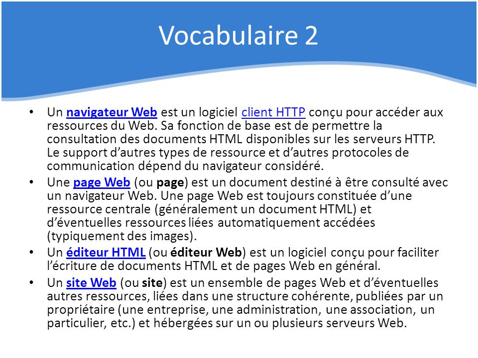 Vocabulaire 2