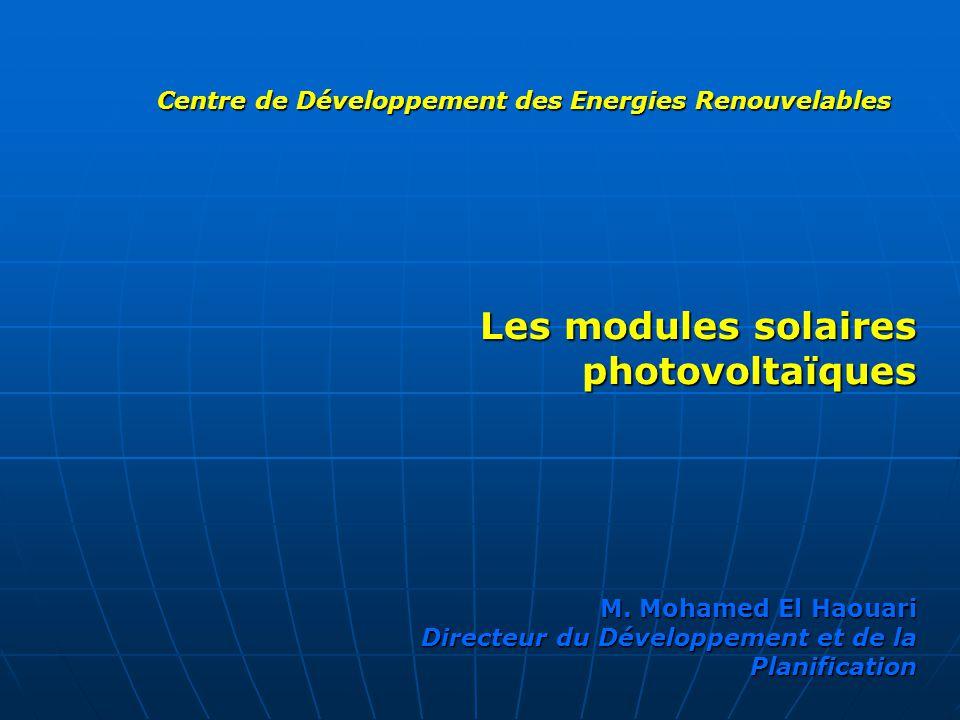 Les modules solaires photovoltaïques