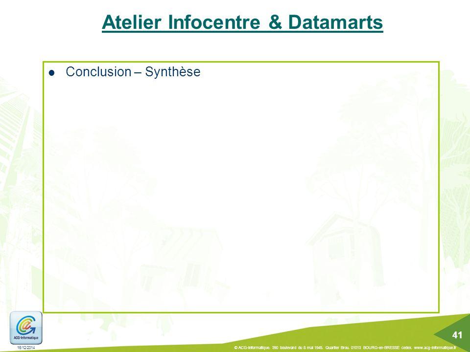 Atelier Infocentre & Datamarts