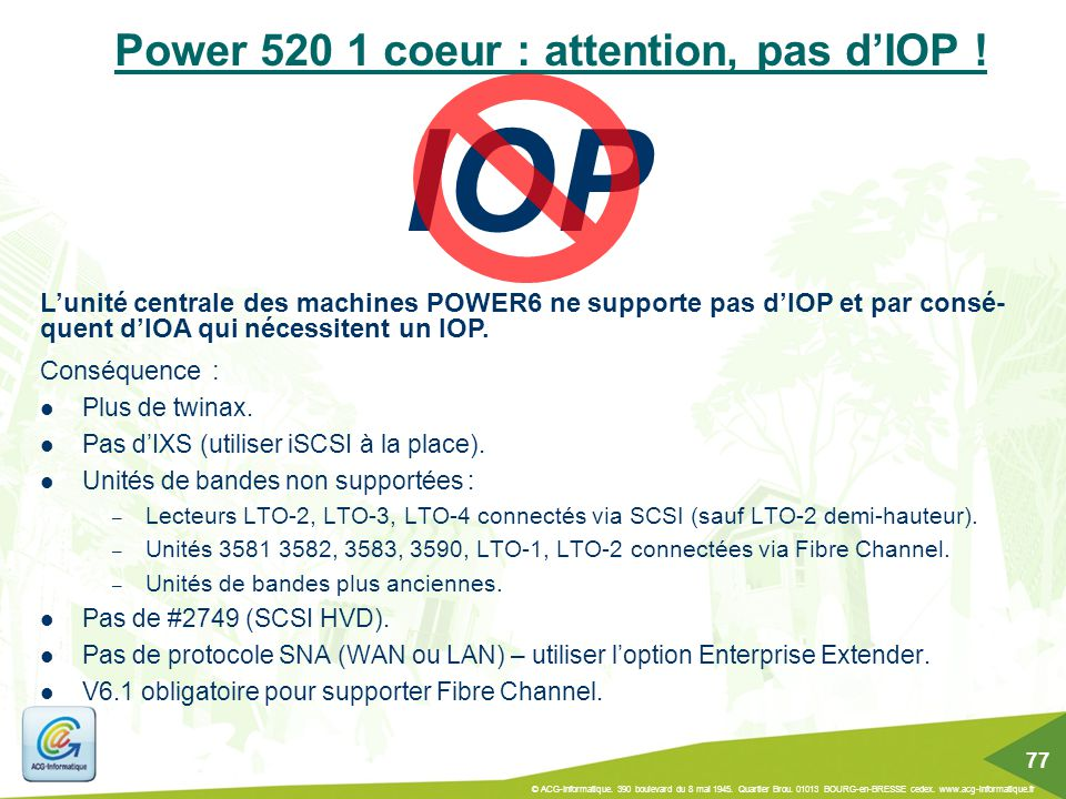 Power 520 1 coeur : attention, pas d'IOP !