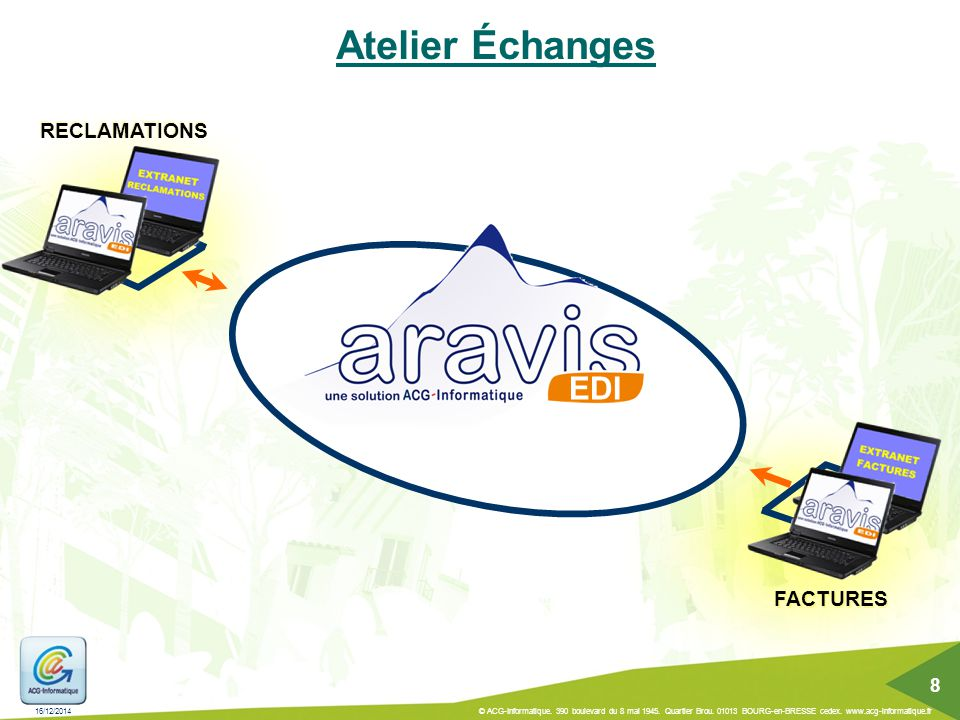 Atelier Échanges EDI RECLAMATIONS FACTURES 8 07/04/2017