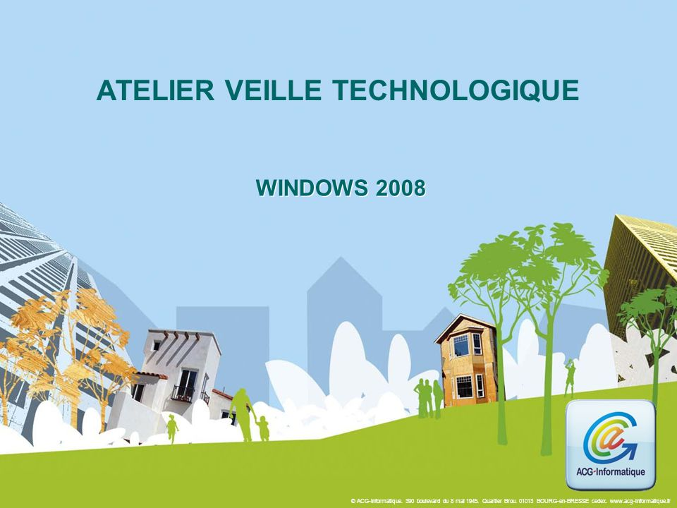 ATELIER VEILLE TECHNOLOGIQUE