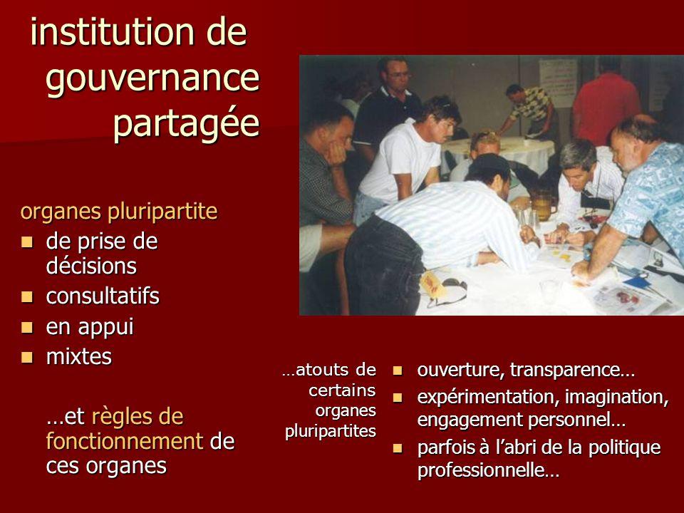institution de gouvernance partagée