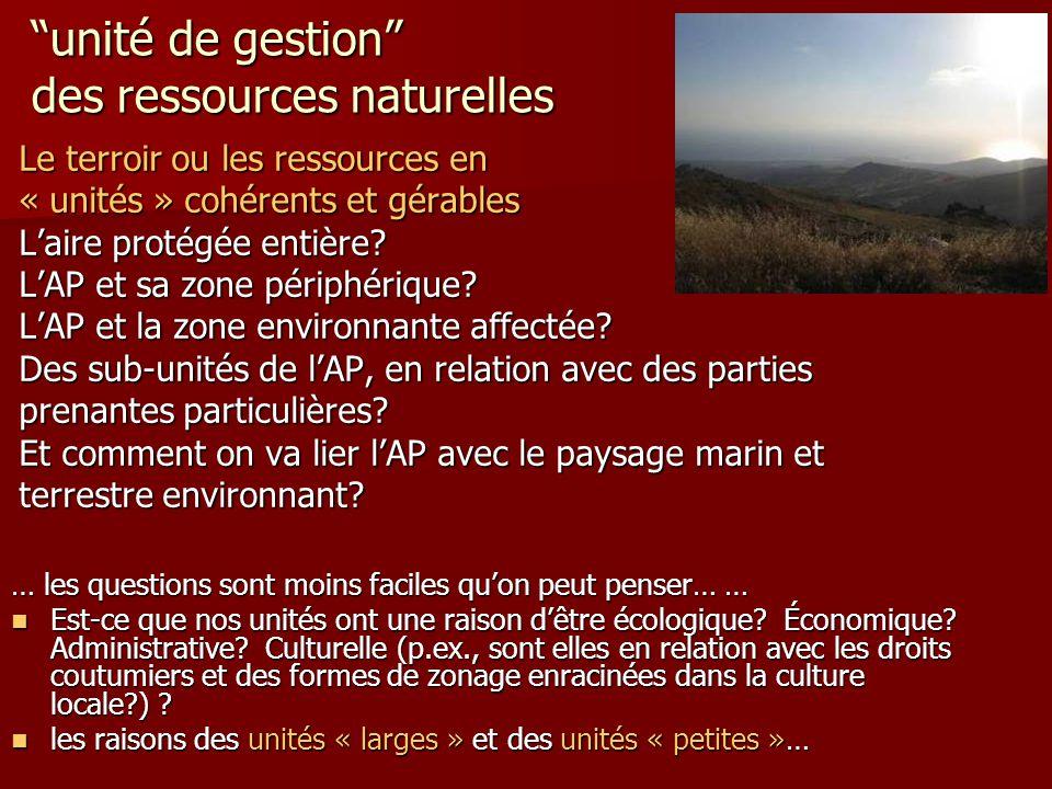 unité de gestion des ressources naturelles