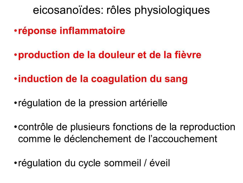 eicosanoïdes: rôles physiologiques