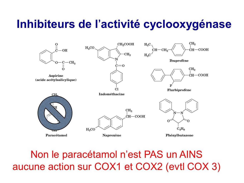 Inhibiteurs de l'activité cyclooxygénase