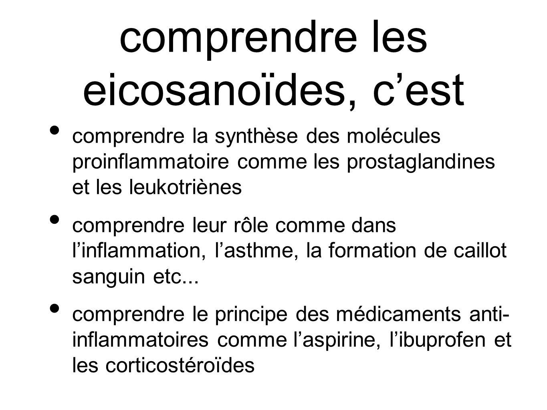 comprendre les eicosanoïdes, c'est
