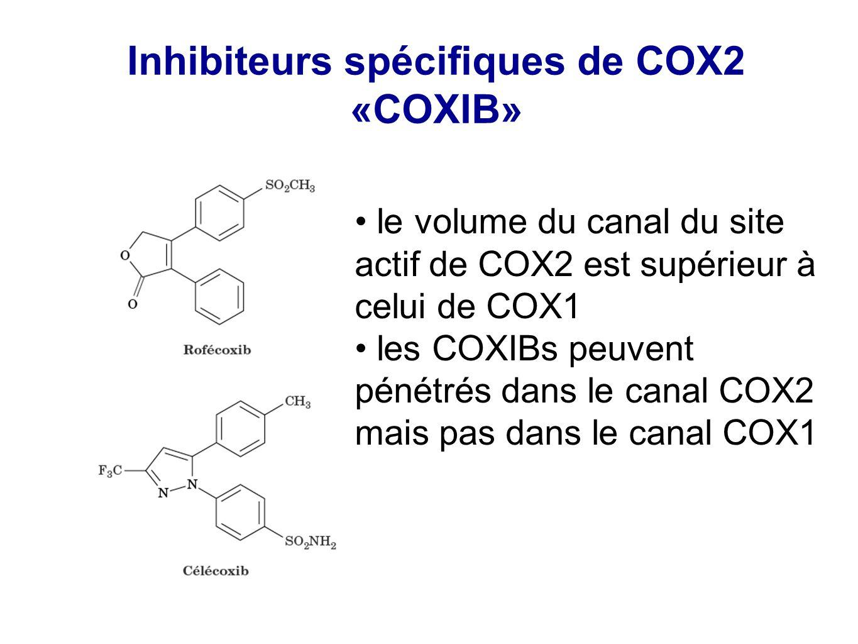 Inhibiteurs spécifiques de COX2