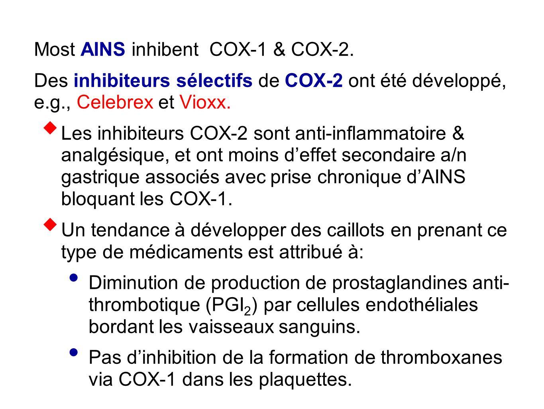 Most AINS inhibent COX-1 & COX-2.