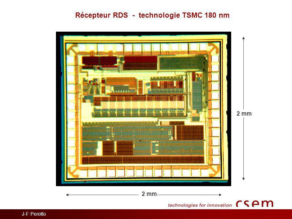 Récepteur RDS - technologie TSMC 180 nm