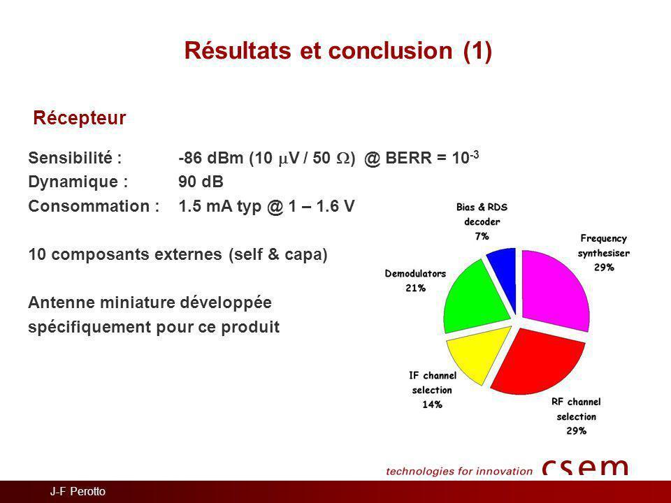 Résultats et conclusion (1)