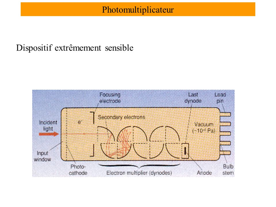 Photomultiplicateur Dispositif extrêmement sensible