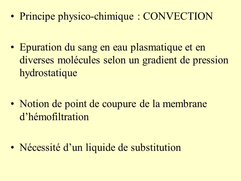 Principe physico-chimique : CONVECTION