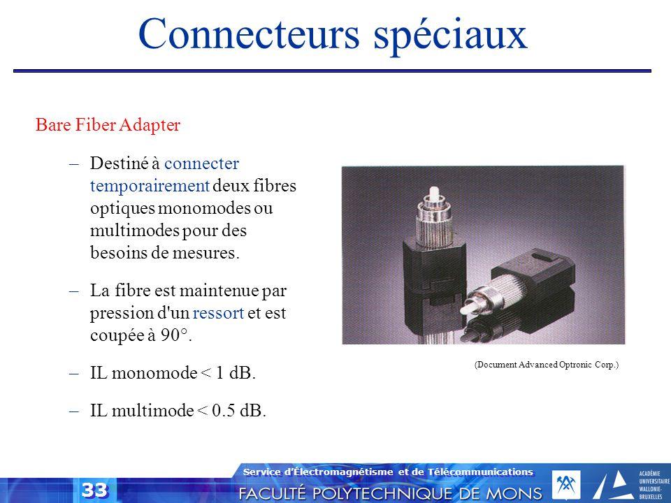 Connecteurs spéciaux Bare Fiber Adapter