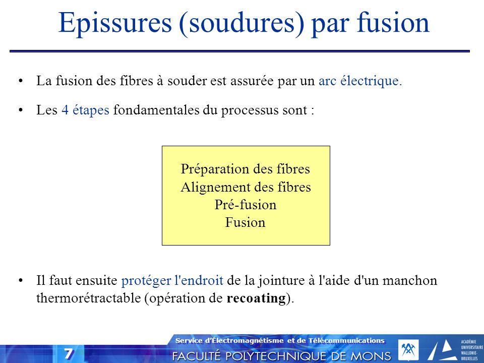 Epissures (soudures) par fusion