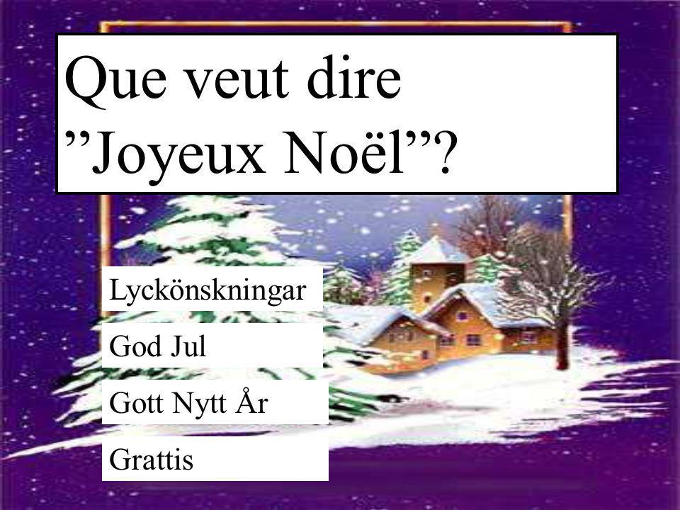 Que veut dire Joyeux Noël