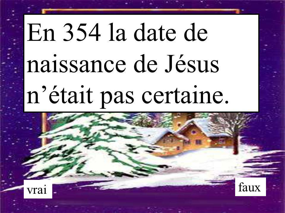 En 354 la date de naissance de Jésus n'était pas certaine.