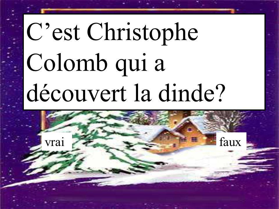 C'est Christophe Colomb qui a découvert la dinde
