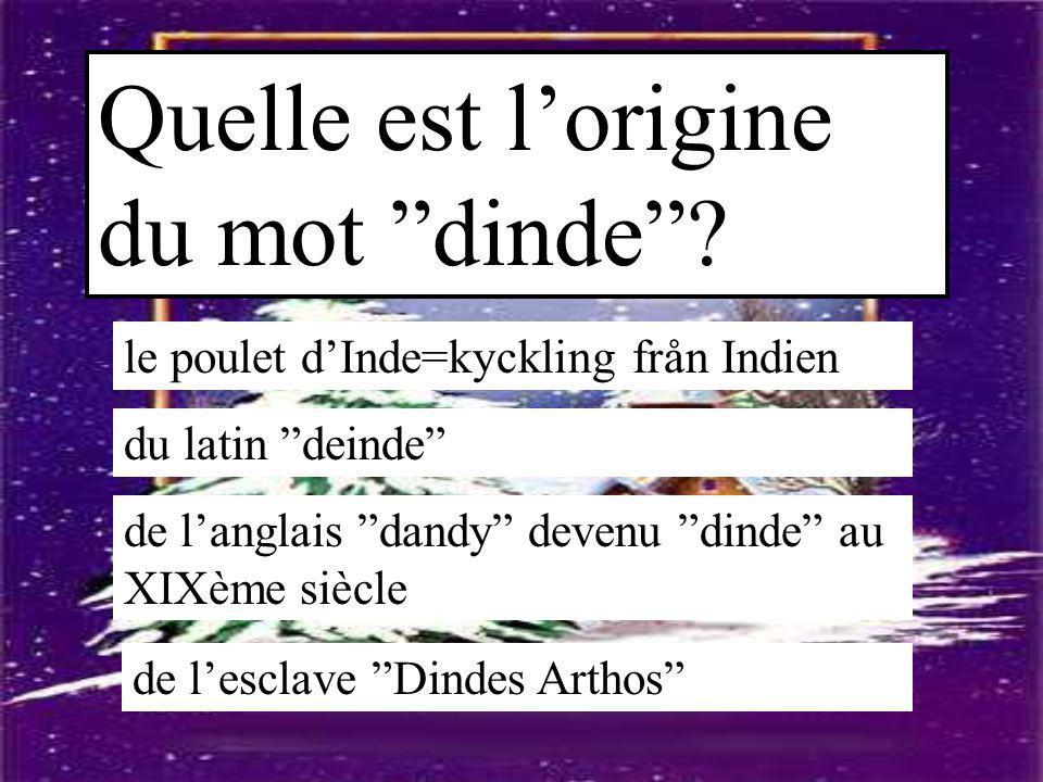 Quelle est l'origine du mot dinde